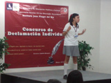 Karen Melissa López Guerrero 3° lugar en Concurso de Declamación Individual de la Zona Escolar 013