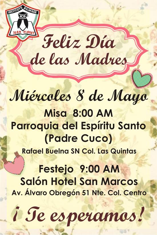 Invitación día de las Madres